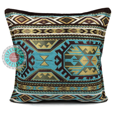 Esperanza Deseo Maya turquoise kussen ± 45x45cm