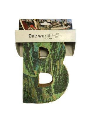 One World Interiors Houten Letter B