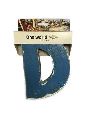 One World Interiors Houten Letter D