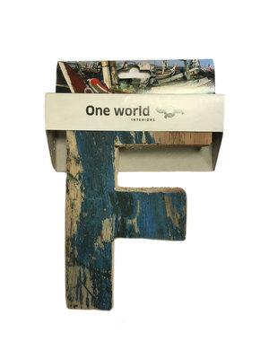 One World Interiors Houten Letter F
