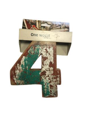 One World Interiors Houten Cijfer 4