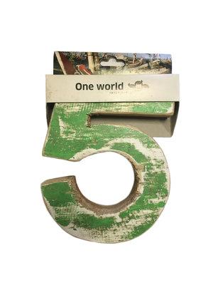 One World Interiors Houten Cijfer 5