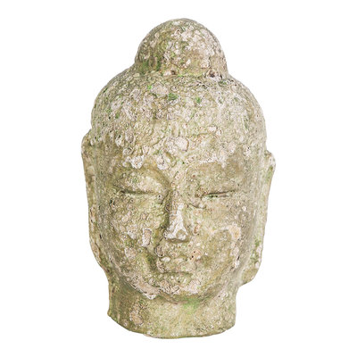 PTMD Hayar green ceremic buddha head L