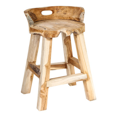 PTMD Chazz wood natural stool round