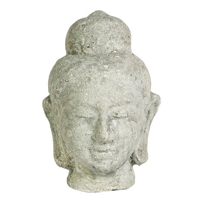 PTMD Hayar grey ceremic buddha head S