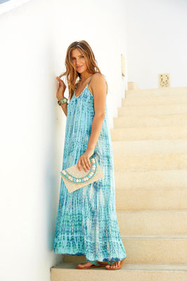 Hot Lava Dress Anna Tie Dye Blue Moon