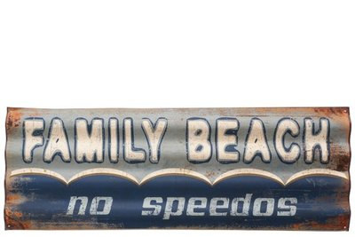Jolipa Metaal bord Family Beach